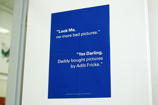 "Poster: ""Look Ma, no more bad pictures."" / ""Yes Darling, Daddy bought pictures by Adib Fricke."""