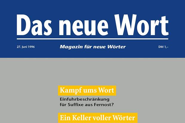 Adib Fricke, »Das neue Wort – Magazin für neue Wörter«, Volume 2, Kasseler Kunstverein 1996