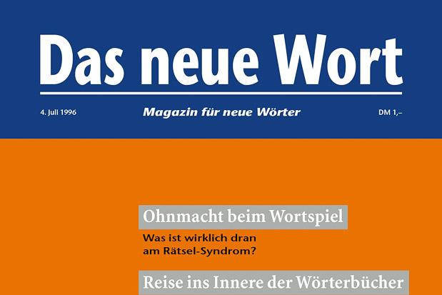 Adib Fricke, »Das neue Wort – Magazin für neue Wörter«, Volume 3, Kasseler Kunstverein 1996