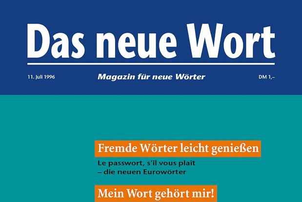 Adib Fricke, »Das neue Wort – Magazin für neue Wörter«, Volume 4, Kasseler Kunstverein 1996