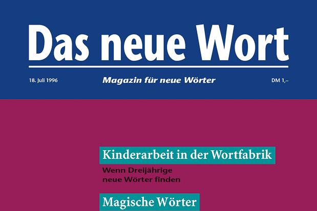 Adib Fricke, »Das neue Wort – Magazin für neue Wörter«, Volume 5, Kasseler Kunstverein 1996