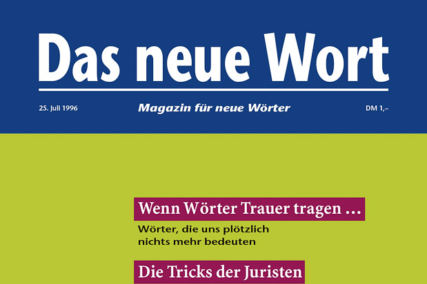Adib Fricke, »Das neue Wort – Magazin für neue Wörter«, Volume 6, Kasseler Kunstverein 1996