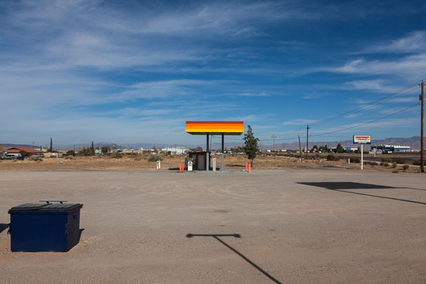 """USA"", 2009, Old Gas Station, American Landsacape, from the photo series ""Situations"""