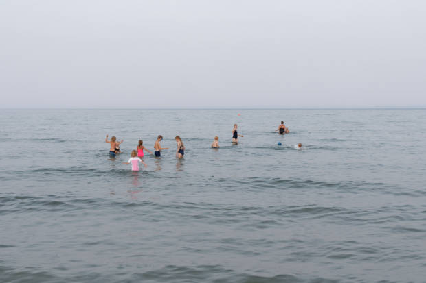 """Denmark"", 2019, Bathing in the Sea, from the series ""Situations"""