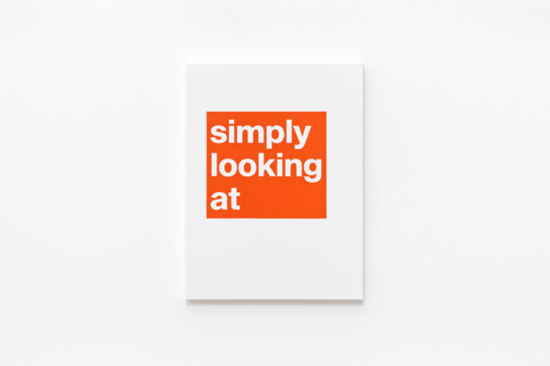 Simply looking at, text painting